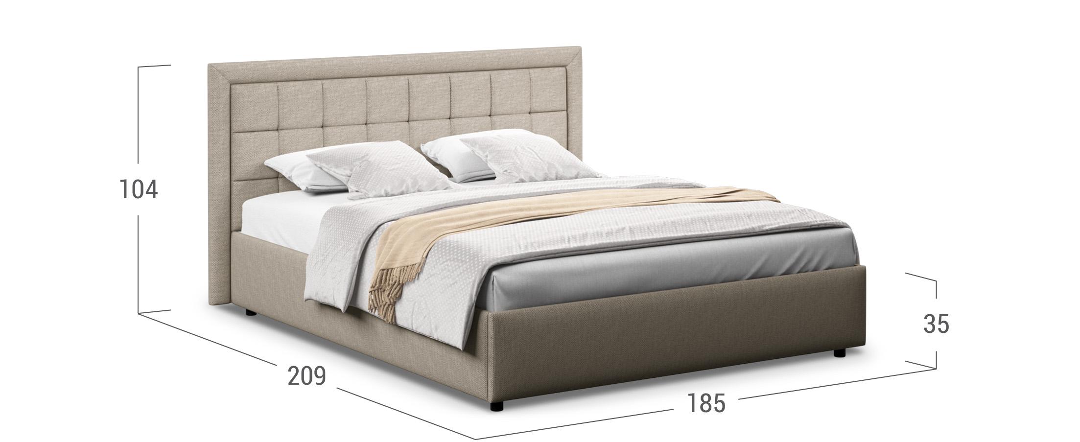 Кровать двуспальная Ноэми 160х200 Модель 1202